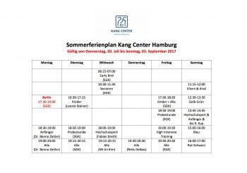 Sommerferienplan 2017